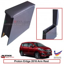 Proton Ertiga 2016 4' Plywood PVC Armrest Center Console Box (Black)